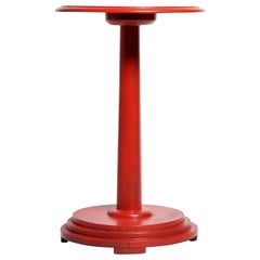 British Colonial Art Deco Teak Wood Side Table