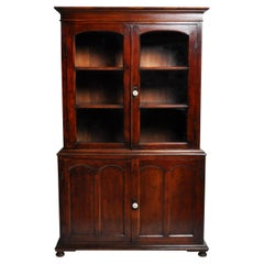 British Colonial Bookcase in Two Sections