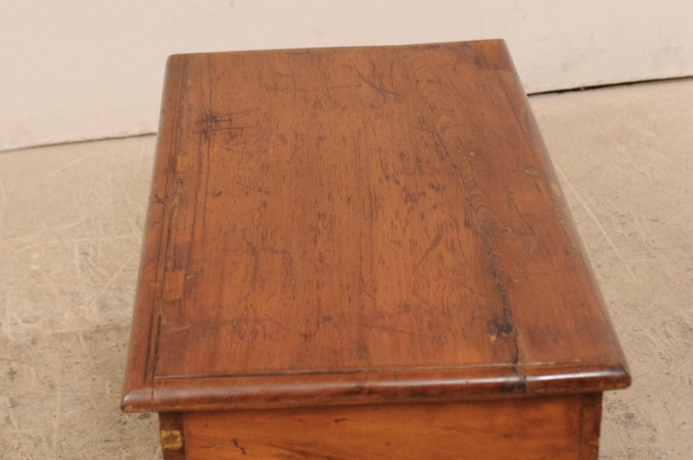 British Colonial Chest or Trunk with Compartments & Beautiful Floral Brass Inlay For Sale 4