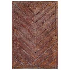 British Colonial Chevron Motif Door Element
