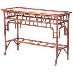 British Colonial Style Bamboo Console