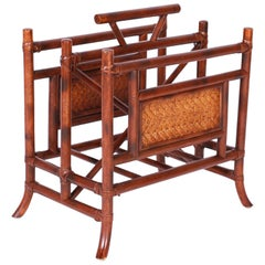 British Colonial Style Faux Bamboo Magazine Rack