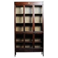 British Colonial Teak Wood Bookcase