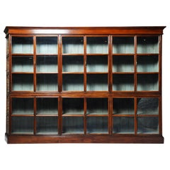 British Colonial Teak Wood Bookcase