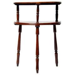 British Colonial Teak Wood Demi-Moon Table