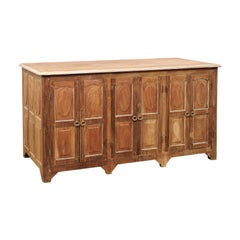 Antique British Colonial Decoratively-Paneled Cabinet- Great for Kitchen Island!
