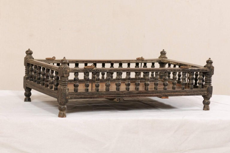 British Colonial Wooden Pet Bed / Bassinet from the Mid-20th Century For Sale 5