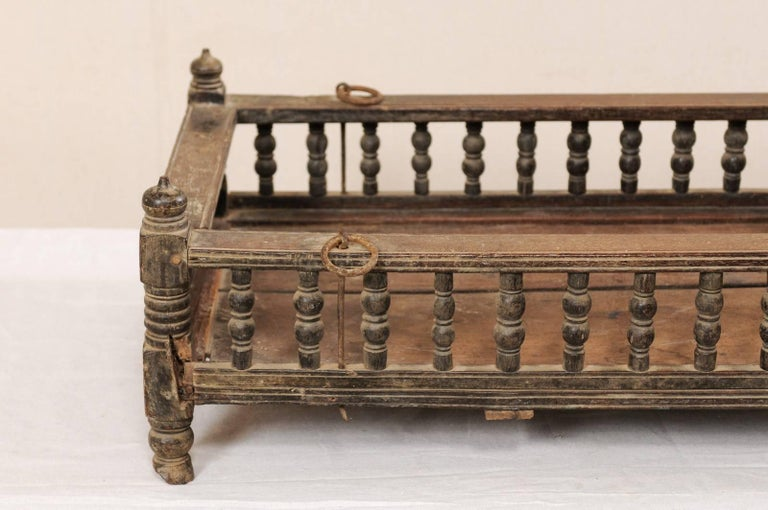 British Colonial Wooden Pet Bed / Bassinet from the Mid-20th Century For Sale 3
