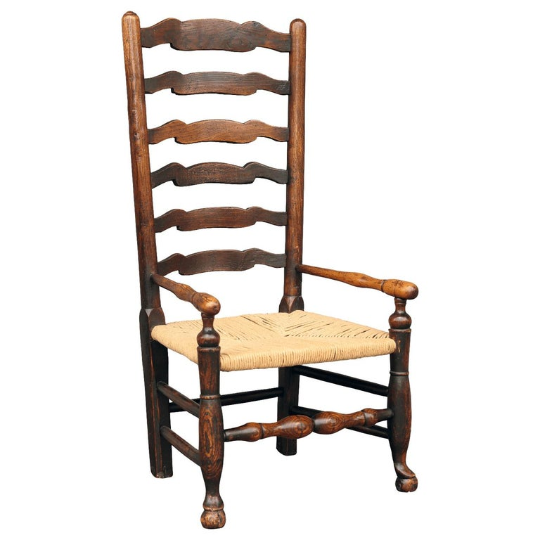 British Country Armchair in Ash For Sale 2