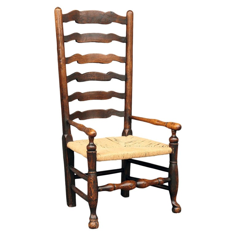 British Country Armchair in Ash For Sale