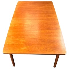 British Double Extending Teak Dining Table by Tom Robertson for A. H. McIntosh