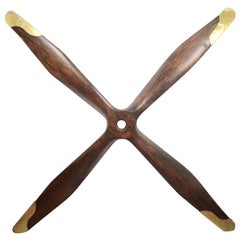 British Four-Blades Laminated Wood Aviation British Propeller Made in the WWI