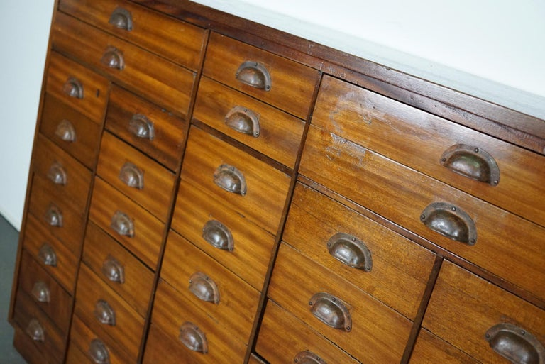 British Mahogany Apothecary Cabinet or Bank of Drawers, 1930s For Sale 6
