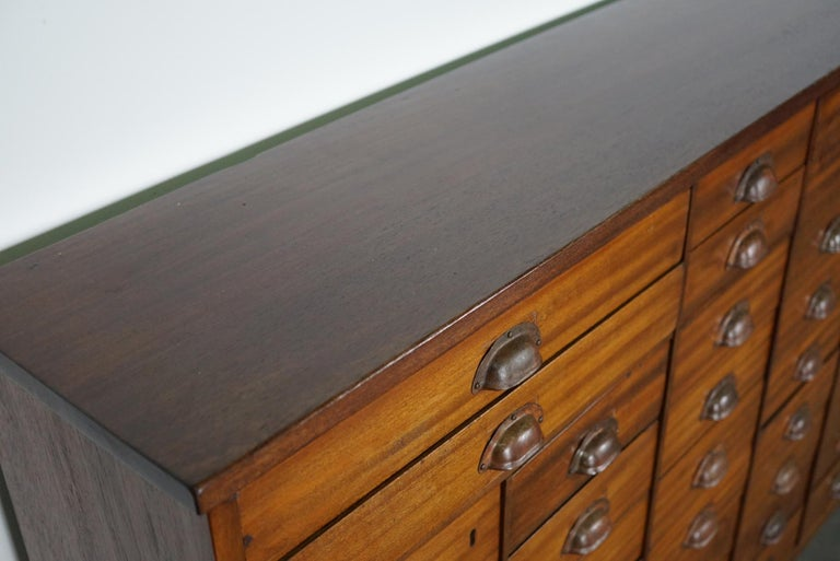 British Mahogany Apothecary Cabinet or Bank of Drawers, 1930s For Sale 10