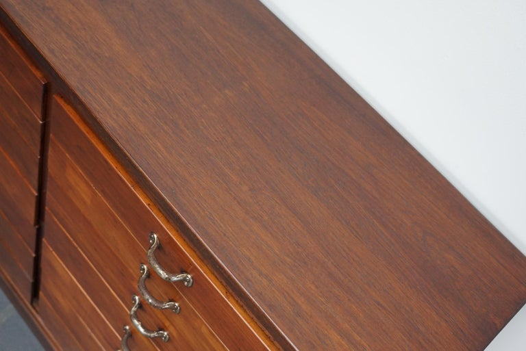 British Mahogany Apothecary Cabinet or Bank of Drawers, 1930s For Sale 12