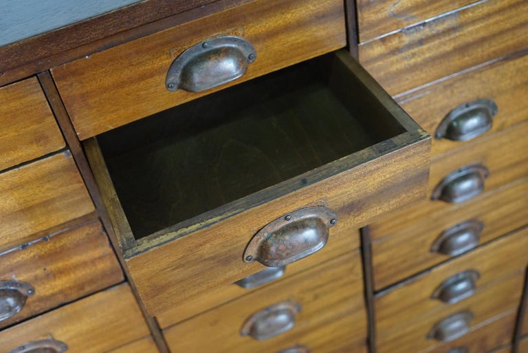 British Mahogany Apothecary Cabinet or Bank of Drawers, 1930s For Sale 1