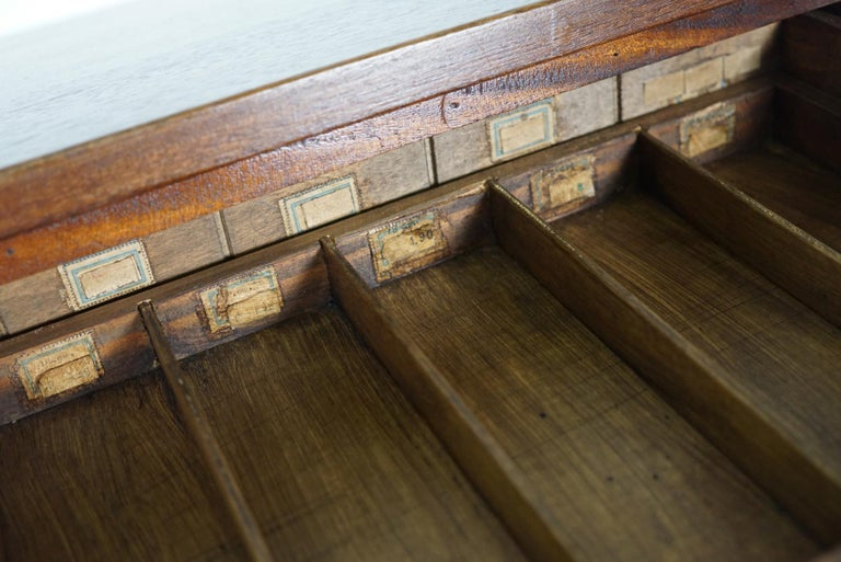 British Mahogany Apothecary Cabinet or Bank of Drawers, 1930s For Sale 2