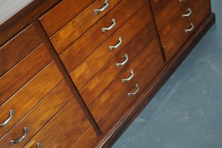 British Mahogany Apothecary Cabinet or Bank of Drawers, 1930s For Sale 3