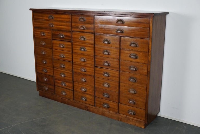 British Mahogany Apothecary Cabinet or Bank of Drawers, 1930s For Sale 4