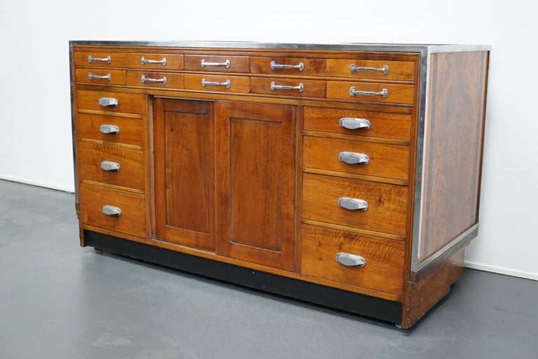British Mahogany Haberdashery Cabinet or Shop Counter, 1930s For Sale 9