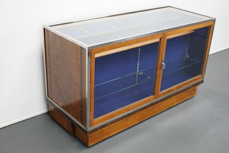 British Mahogany Haberdashery Cabinet or Shop Counter, 1930s For Sale 10
