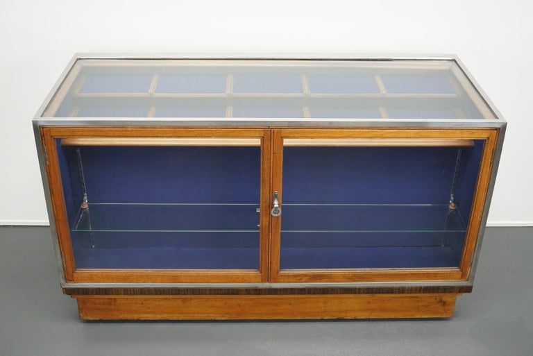 British Mahogany Haberdashery Cabinet or Shop Counter, 1930s For Sale 11