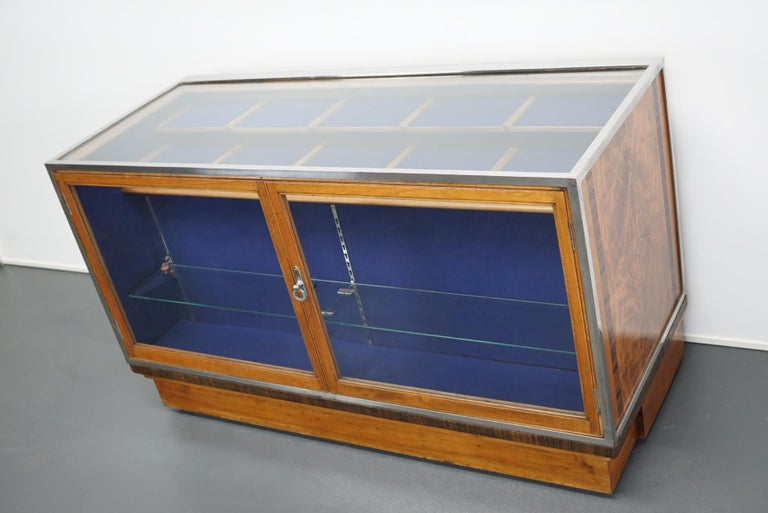 British Mahogany Haberdashery Cabinet or Shop Counter, 1930s For Sale 14