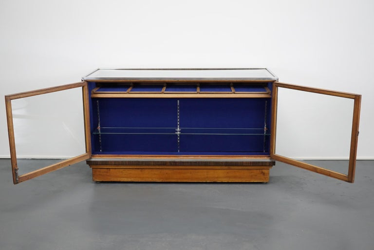 British Mahogany Haberdashery Cabinet or Shop Counter, 1930s For Sale 15