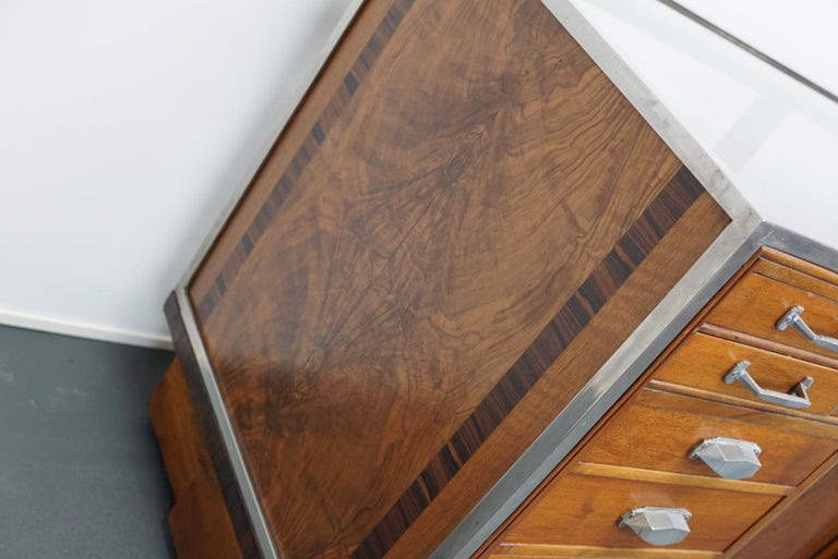 British Mahogany Haberdashery Cabinet or Shop Counter, 1930s For Sale 2