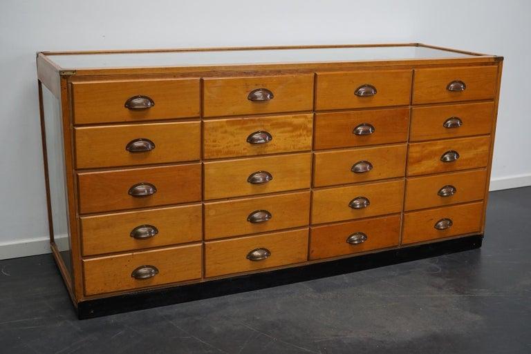 British Maple Haberdashery Cabinet or Shop Counter, 1930s 5