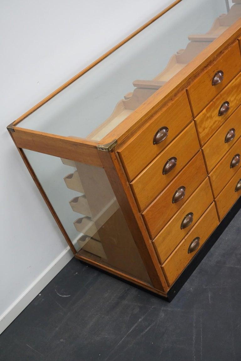 British Maple Haberdashery Cabinet or Shop Counter, 1930s 7