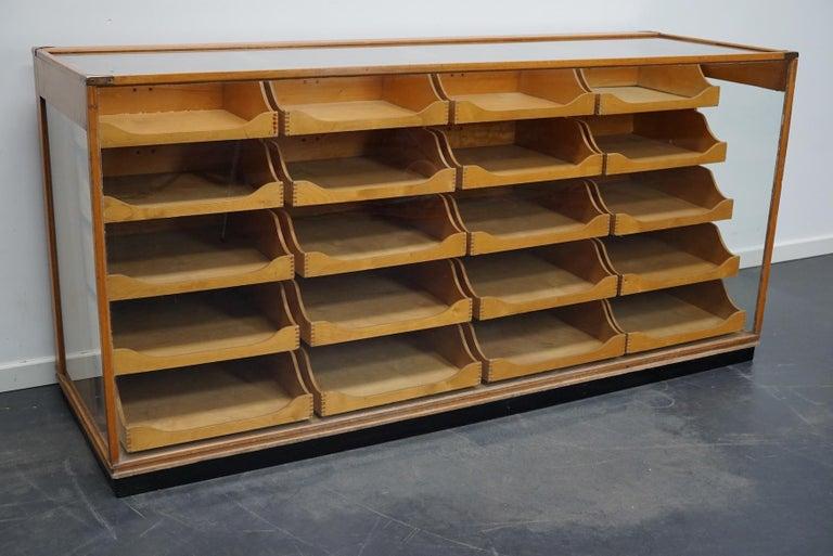 British Maple Haberdashery Cabinet or Shop Counter, 1930s 10