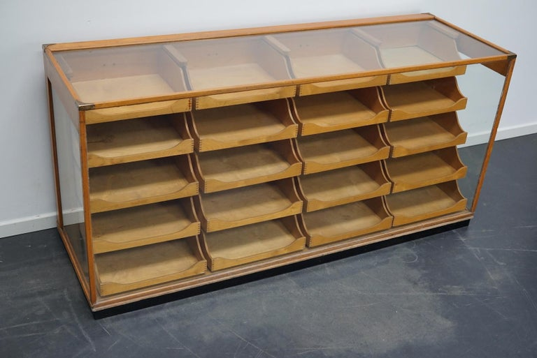 British Maple Haberdashery Cabinet or Shop Counter, 1930s 11