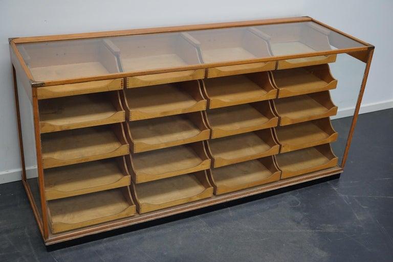 British Maple Haberdashery Cabinet or Shop Counter, 1930s 12