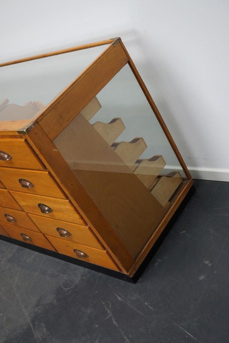 British Maple Haberdashery Cabinet or Shop Counter, 1930s 1
