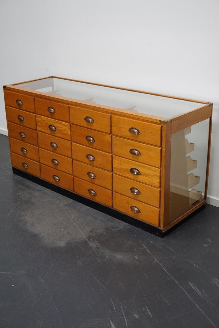 British Maple Haberdashery Cabinet or Shop Counter, 1930s 2