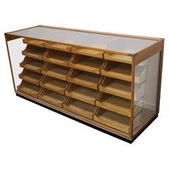 British Maple Haberdashery Cabinet or Shop Counter, 1930s