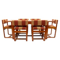 British Midcentury Extending Dining Table & 6 Chairs by Uniflex, c.1960