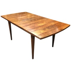 British Midcentury Extending Rosewood Dining Table by Alfred Cox