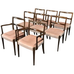 British Midcentury Rosewood Dining Chairs by Alfred Cox, Set of 8