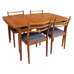 British Midcentury Teak Extending Dining Table & Chairs by G Plan