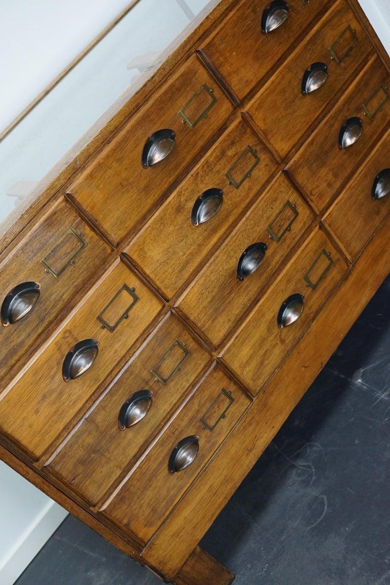 British Oak Haberdashery Cabinet or Shop Counter, 1930s 5
