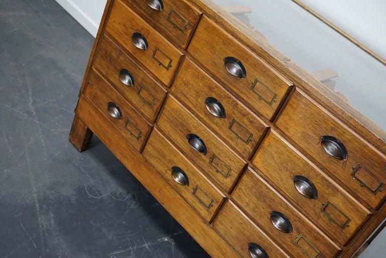 British Oak Haberdashery Cabinet or Shop Counter, 1930s 7