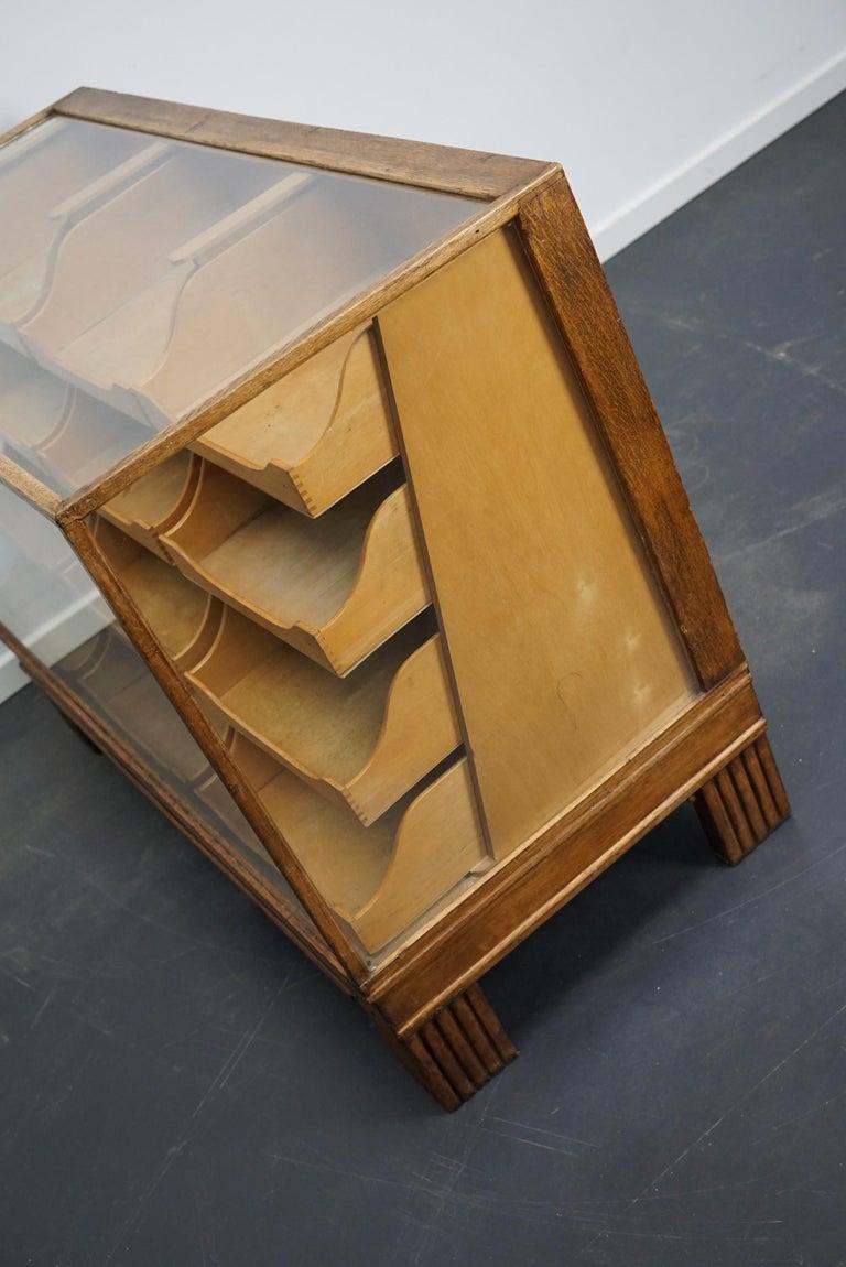 Mid-20th Century British Oak Haberdashery Cabinet or Shop Counter, 1930s