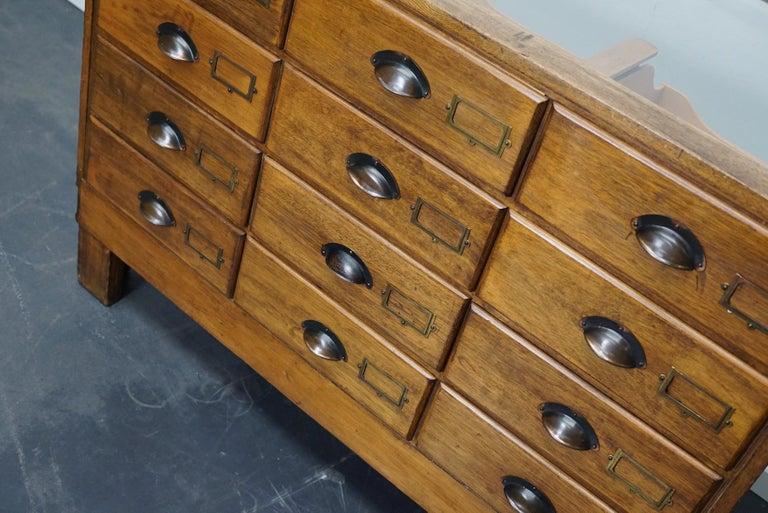 British Oak Haberdashery Cabinet or Shop Counter, 1930s 4