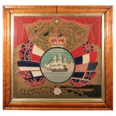 British Sailor's Flag of Nations Woolwork Woolie of HMS Victoria