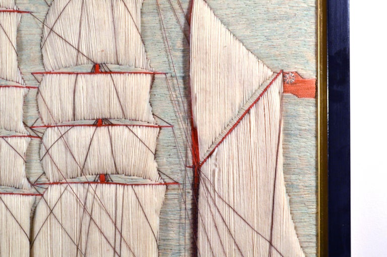 British Sailor's Woolwork or Woolie of the Barque Polly In Good Condition For Sale In Downingtown, PA