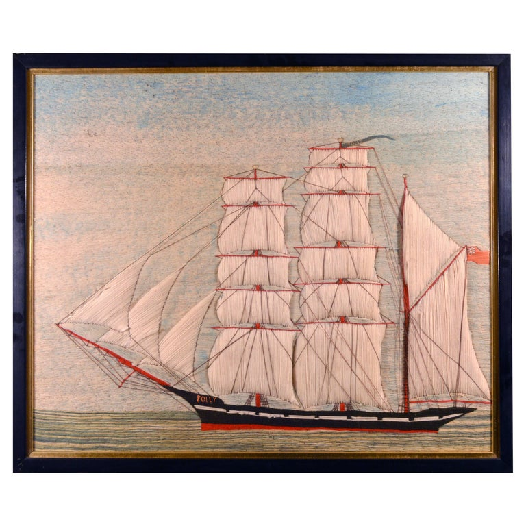 British Sailor's Woolwork or Woolie of the Barque Polly For Sale