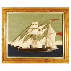"""British Sailor's Woolwork Woolie of a Ship Named """"Bob"""""""