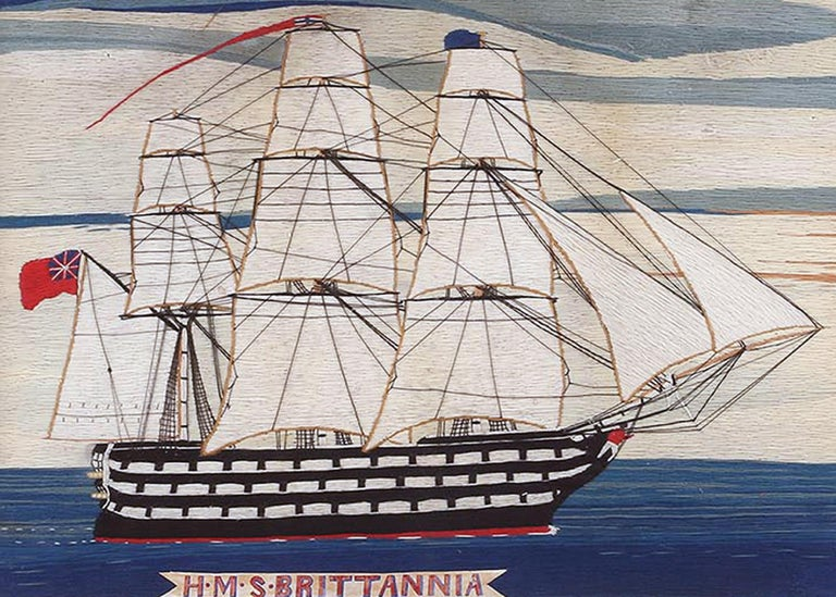 British Sailor's woolwork woolie of ship,